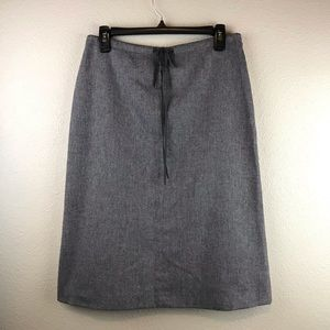 Banana Republic Gray Wool Dress Suit Skirt 6 Small